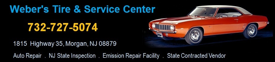 Weber's Garage - Auto Repair  .  NJ State Inspection  .  Emission Repair Facility:  732-727-5074; 1815  Highway 35, Morgan, NJ 08879